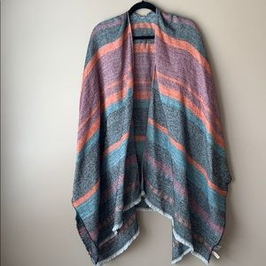 Loft striped blanket shawl